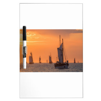 Windjammer in sunset light dry erase board