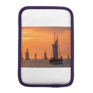 Windjammer in sunset light iPad mini sleeve