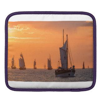 Windjammer in sunset light iPad sleeve