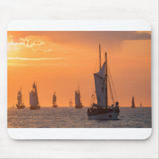 Windjammer in sunset light mouse pad