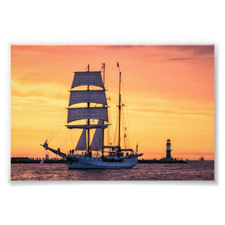 Windjammer on the Baltic Sea Art Photo