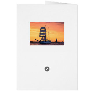 Windjammer on the Baltic Sea Card