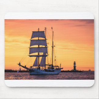 Windjammer on the Baltic Sea Mouse Pad