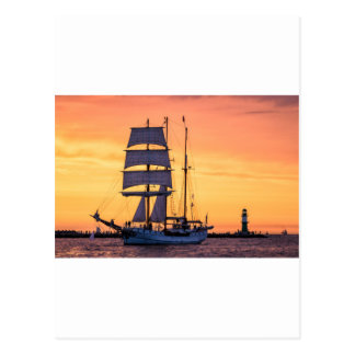 Windjammer on the Baltic Sea Postcard