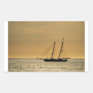 Windjammer on the Baltic Sea Rectangular Sticker