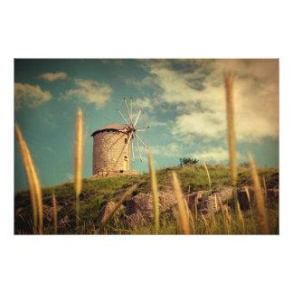 Windmill 14:48 photo print