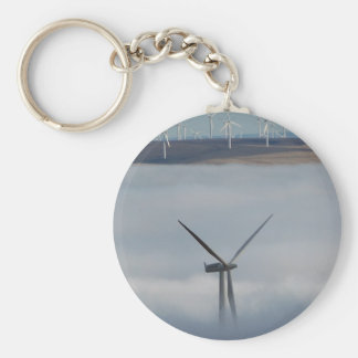 Windmill Above the Fog Key Ring