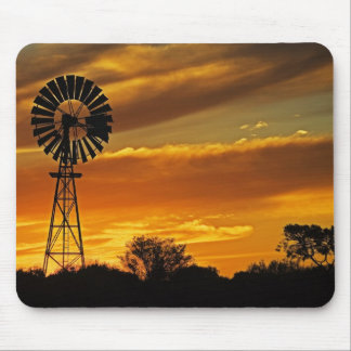 Windmill and Sunset, William Creek, Oodnadatta Mouse Pad