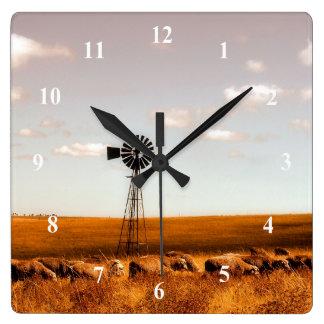 Windmill at Sheep Farm Wall Clock