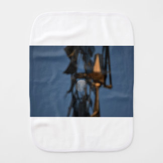 WINDMILL BLADES AND MOON AUSTRALIA BURP CLOTH