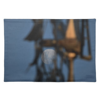WINDMILL BLADES AND MOON AUSTRALIA PLACEMAT