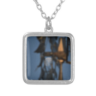WINDMILL BLADES AND MOON AUSTRALIA SILVER PLATED NECKLACE