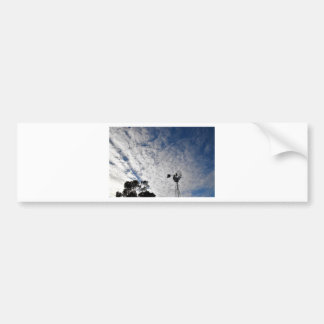 WINDMILL & CLOUDY  SKY QUEENSLAND AUSTRALIA BUMPER STICKER