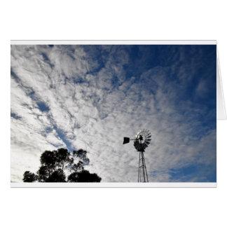 WINDMILL & CLOUDY  SKY QUEENSLAND AUSTRALIA CARD