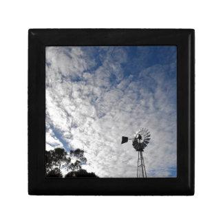 WINDMILL & CLOUDY  SKY QUEENSLAND AUSTRALIA GIFT BOX