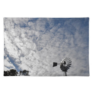 WINDMILL & CLOUDY  SKY QUEENSLAND AUSTRALIA PLACEMAT