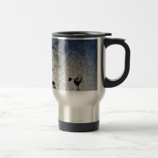 WINDMILL & CLOUDY  SKY QUEENSLAND AUSTRALIA TRAVEL MUG