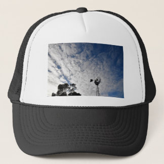 WINDMILL & CLOUDY  SKY QUEENSLAND AUSTRALIA TRUCKER HAT