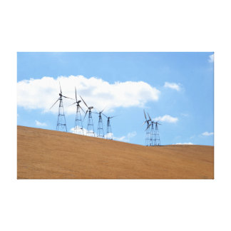 Windmill Farm in Northern California Stretched Canvas Prints