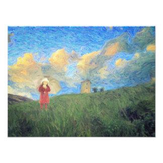 Windmill girl photo print