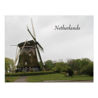Windmill, Holland, Netherlands, Amsterdam, Dutch Postcard