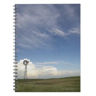 Windmill in Field Notebook