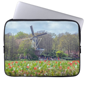 Windmill in Holland laptop sleeve