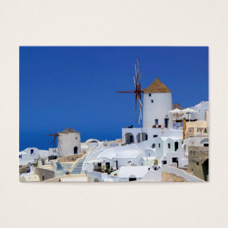 Windmill in Oia, Santorini, Greece Business Card