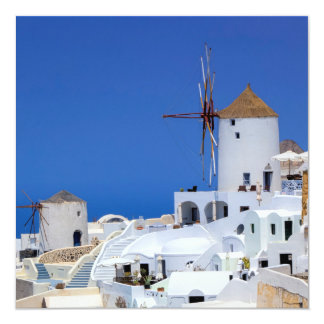 Windmill in Oia, Santorini, Greece Card
