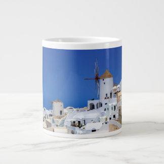 Windmill in Oia, Santorini, Greece Giant Coffee Mug