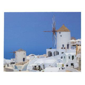 Windmill in Oia, Santorini, Greece Notepad