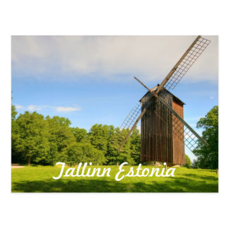 Windmill in Tallinn Estonia Postcard