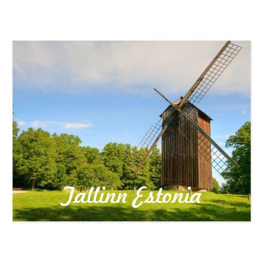 Windmill in Tallinn Estonia Postcards