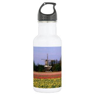 Windmill in the bulb fields 532 ml water bottle