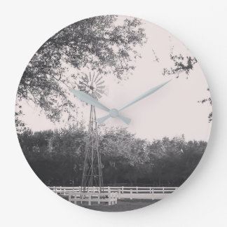 Windmill in the Country Large Clock