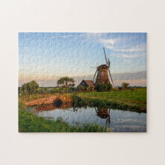 Windmill in the countryside in Holland jigsaw Jigsaw Puzzle