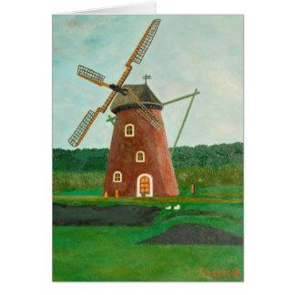 Windmill Note Card