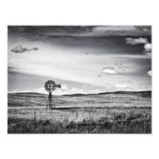 Windmill on the Plains Art Print