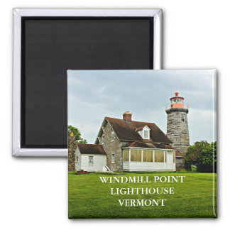 Windmill Point Lighthouse, Vermont Magnet