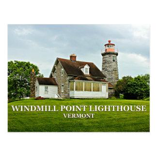 Windmill Point Lighthouse, Vermont Postcard