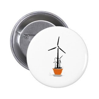 Windmill pot 6 cm round badge