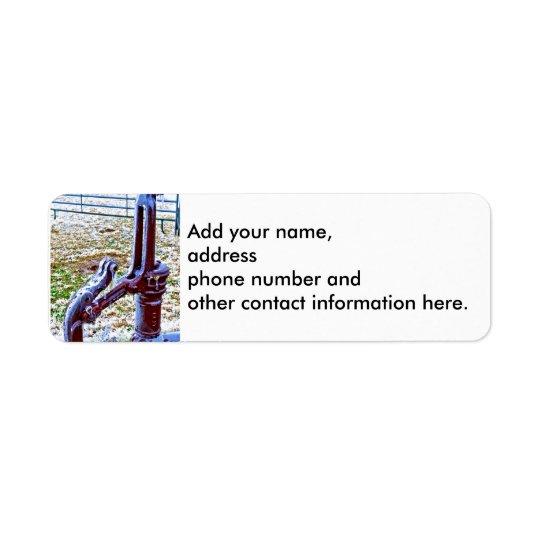 Windmill Pump 1 Return Address Label