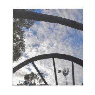 WINDMILL QUEENSLAND AUSTRALIA NOTEPAD