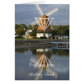Windmill reflection note card WM2014