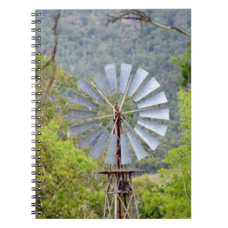 WINDMILL RURAL QUEENSLAND AUSTRALIA SPIRAL NOTEBOOK