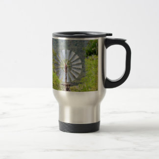 WINDMILL RURAL QUEENSLAND AUSTRALIA TRAVEL MUG
