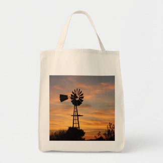 Windmill Silhouette GROCERY BAG