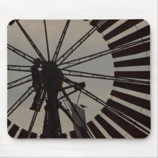 Windmill silhouette mousepad