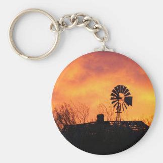 Windmill sunset key ring