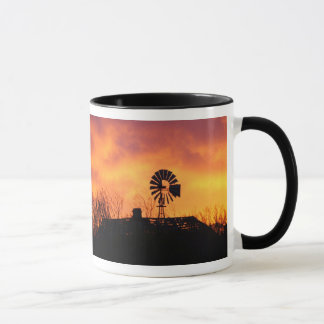 Windmill sunset mug